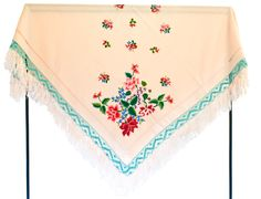 Polish scarf from Łowicz with hand embroidery