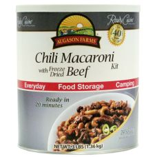 Augason Farms Chili Macaroni with Beef - Easy & delicious dinner for the whole family! Just add water!