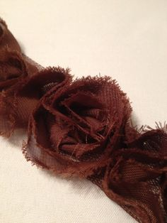 Brown Chiffon Flowers by MonAmiePaperie on Etsy, $5.44