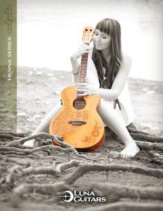 Luna Guitars Henna Oasis folk. This is my guitar!!! she's so beautiful!