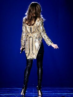 Although the segment was all ready removed due to time management, The 30 Pound heavy Givenchy Jacket was used as a tribute to the King Of Pop. She was a fan of Michael Jackson since the beginning. Annie Horth sais that even Jackson would definitely like the Jacket.