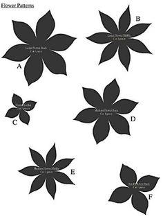 Flat paper flower pattern