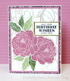 Lisa's Creative Corner: Live Beautifully Birthday Card