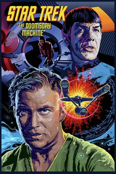 Star Trek Doomsday Machine Poster Art by Garth Glazier. TREK Doomsday Machine is the second in my Star Trek poster series. Star Trek Starships, Star Trek Enterprise, Star Trek Voyager, Star Trek Tv Series, Star Trek Original Series, Star Wars, Star Trek Tos, Star Trek Spock, Star Citizen
