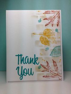 french foliage: SU!, fall, stencils, by beesmom - Cards and Paper Crafts at Splitcoaststampers