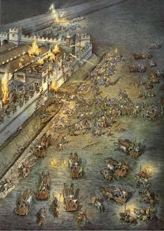 Night attack on a fort along Hadrian's wall c. 180 CE