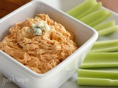 All the flavor of buffalo wings without messy hands! Perfect for your Superbowl Party. I lightened this using low fat and fat free ingredients. Adjust the heat to your liking and serve this with celery, chips or crackers.  Lighter Buffalo Chicken Dip Gina's Weight Watcher Recipes Servings: 9 • Serving Size: 1/3 cup • Points +: 3 pts • SmartPoints: 3 Calories: 107.9 • Fat: 4.9 g • Carbs: 5.4 g • Fiber: 0 g • Protein: 10.3 g  Ingredients:  4 oz reduced fat cream cheese, softened 1 cup...