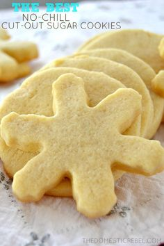 These truly are the BEST Cut-Out Sugar Cookies EVER! Super easy, really quick, no-chilling required and makes a nicely-sized batch. Perfect for decorating and giving as gifts!