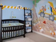 Construction decor for kids room