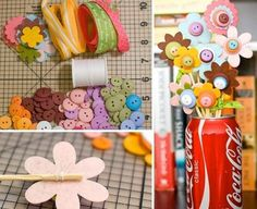 Mother Day Gifts Kids Make Mothers Day Crafts For Kids Danielles Place Of Crafts And....I'd revamp this and use flowere cut from the silhouette and put in a nice vase or mason jar