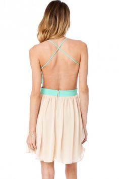 Open back dresses.