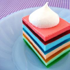 layered jell-o; perfect for a neighborhood picnic. recipe @ cafe zupas blogosphere