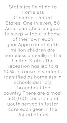 Statistics on homeless children