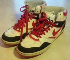 Nike Sky Force White Red Black Men's Basketball Shoes Sneaker Size 11 454452-160 #Nike #BasketballShoes