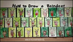 How to Draw a Reindeer with printable directions. Fun for school or family. Every picture made looks great!