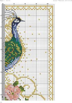 Tổng hợp một số chart thêu chim công | Free Craft Ebooks