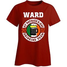 St Patricks Day Ward 2017 Drinking Team Irish  Ladies Tshirt Ladies Xl Red -- St Patricks Day offer can be found by clicking the VISIT button