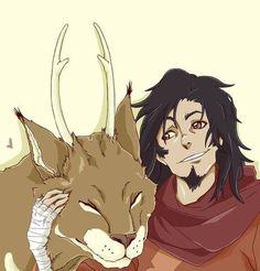 Wan and Mula the cat-deer from The Legend of Korra Avatar Wan, Iroh, Cartoon Art Styles, Zuko, Legend Of Korra, Aang, Avatar The Last Airbender, Animation Series, Cartoon Kids