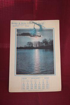 Advertising 1932 Salesman Sample Calendar by AmericanVintageAve