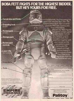 Bobba Fett fights for the highest bidder but he's yours for free. #Palitoy #StarWars vintage mail away offer
