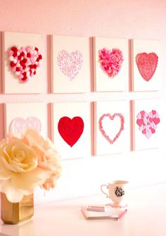 DIY Heart canvas Val