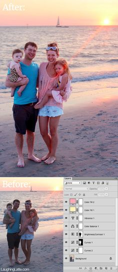 How to edit beach sunsets in photoshop, with tips for photoshop elements! Step by step guides with a free printable tutorial!