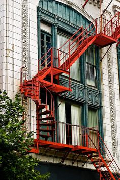 Ideas For Apartment Building Facade Fire Escape Stairs Architecture, Architecture Design, Travel Photographie, Concrete Stairs, Exterior Stairs, Fire Escape, Building Facade, House Stairs, Stairway To Heaven