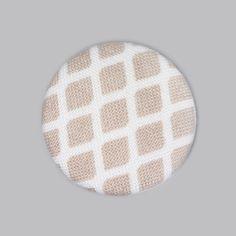 Button Portofino Honeycomb 3 (25) - Baumwolle - beige