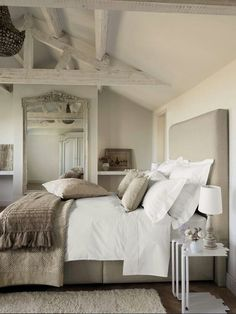 Neutral bedroom/layers add interest