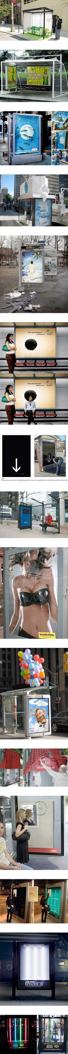Publicidad creativa en paradas de bus