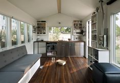 210 Sq Ft Minim House Shelters Sweet Space-Saving Interior with Off Grid Versatility.  http://minimhomes.com/    https://www.youtube.com/watch?v=GLSxcLww2V4&feature=em-subs_digest-vrecs