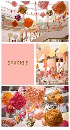 These are great decorations for this corporate event!