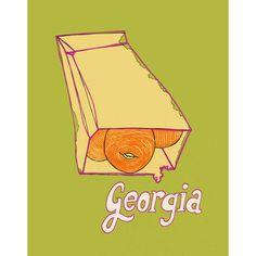 georgia peach, by shorthanded studio. #food