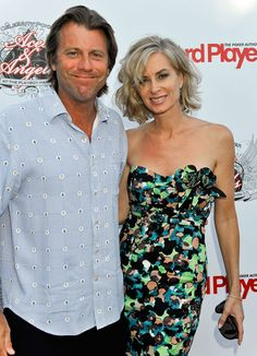Eileen Davidson and Vincent Van Patten Photos Photos: Aces & Angels Celebrity Poker Party Bold And The Beautiful, Beautiful People, Vincent Van Patten, Celebrity Couples, Celebrity Style, Medium Hair Styles, Short Hair Styles, Eileen Davidson, Bob Hairstyles With Bangs
