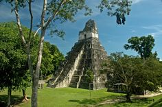 guatemala...tikal ruins & surrounding area. inexpensive, many places within 15miles...including san ignacio belize. both have ziplines, jungle, caves, myan ruins, very affordable hotels. check guatemala, (western side near belize) & belize out. especially san ignacio