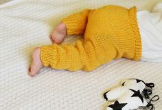 Knit Baby Pants Hand Knitted Leggings Baby Trousers by LalaKa