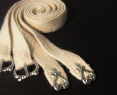 garters with pewter buckles