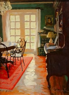 Larry Bracegirdle - French Doors in the Lights Painting Inspiration, Art Inspo, Paintings I Love, Pretty Art, Interior Paint, Architecture, Contemporary Artists, Painting & Drawing, Cool Art