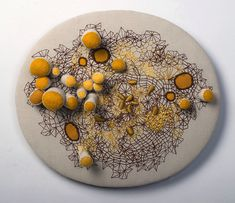 Embroidery Art Sculptures by Laura Bell Reveal New Worlds A Level Textiles, Textile Fabrics, Textile Art, Growth And Decay, Creative Textiles, Petri Dish, Soft Sculpture, Art Sculptures, Fabric Manipulation