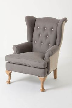 I WANT. Howell Wingback, Linen - Anthropologie.com