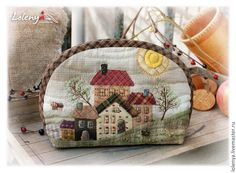 Embroidery For Beginners fbcdn-sphotos-e-a . Japanese Patchwork, Japanese Bag, Patchwork Bags, Quilted Bag, Yoko Saito, Wool Applique, Applique Quilts, House Quilts, Penny Rugs