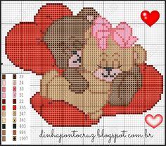 Teddy bear x-stitch love