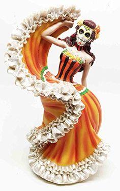 Dia De Los Muertos Sugar Skull Sunburst Dancer Figurine Day Of The Dead Vivas Calacas Gifts & Decor http://www.amazon.com/dp/B00TY367VA/ref=cm_sw_r_pi_dp_pl0kvb0HRD7WC