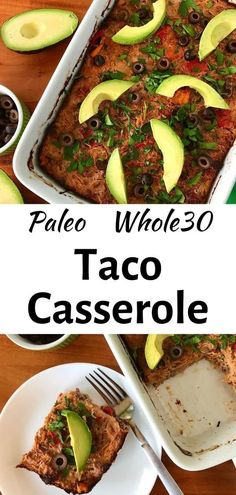 This easy Taco Casserole recipe is a fun and hearty dinner! It's full of protein and veggies with ground beef, eggs, spaghetti squash, peppers and more. Bake it on the weekend and enjoy all week for the best meal planning! Plus it's Whole30, Paleo, low carb, gluten-free and dairy-free!