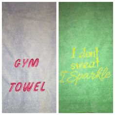 Embroidered Gym Towels