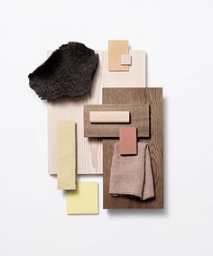 Material Mood Of The Week ~ The New Noma Restaurant / Private Dining Room - photo by Mood Board Interior, Interior Design Living Room, Room Interior, Colour Pallette, Colour Schemes, Noma Restaurant, Material Board, Boutique Deco, Private Dining Room