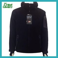 afa6095b0fc CavalryWolf Outdoor wool Softshell Jacket Men Windproof Waterproof Male  Hiking Camping Hiking heated clothing Impermeable