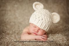 Baby bear hat sooo cute!!
