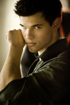 taylor lautner; my negative opinions of jacob aside, he is impossibly attractive. and chiseled. with amazing teeth...