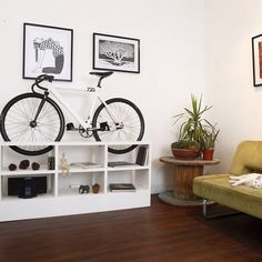 Great furniture doubling as bike stand. Chol#1